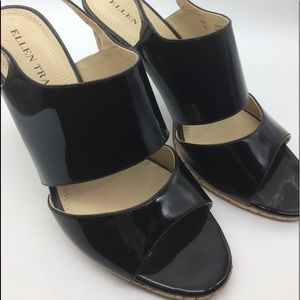 Ellen Tracy  patent leather sandals size 8 M